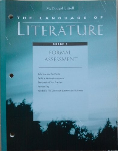 9780395799628: The Language of Literature Formal Assessment Grade 6