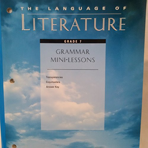 The Language of Literature (Grammar Mini-Lessons, Transparencies,Copymasters,Answer: McDougal Littell
