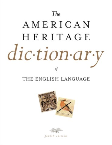 9780395825174: The American Heritage Dictionary of the English Language, Fourth Edition