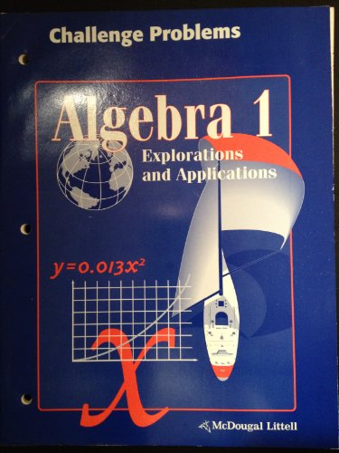 9780395835890: Algebra 1 Explorations and Applications Challenge Problems