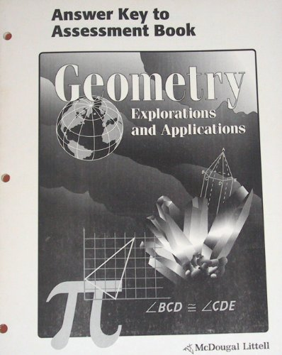 9780395836057: Geometry Explorations and Applications (Answer Key to Assessment Book)
