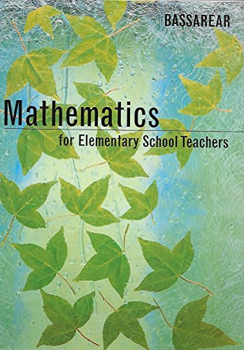 9780395843772: Mathematics for elementary school teachers