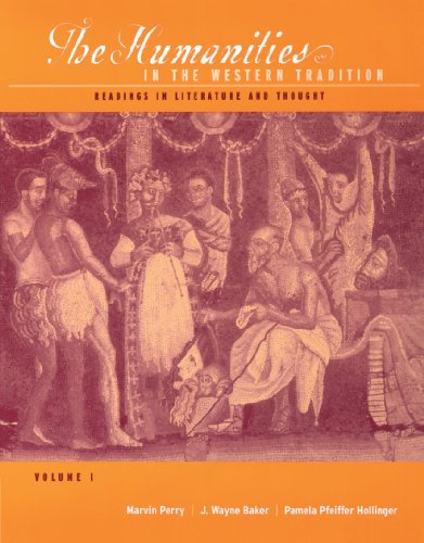 9780395848142: 1: The Humanities in the Western Tradition: Readings in Literature and Thought, Volume I