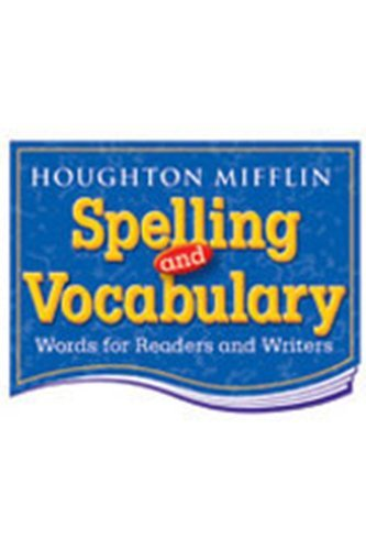 9780395855324: Houghton Mifflin Spelling and Vocabulary: Student Book (consumable) Grade 5 1998