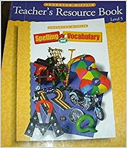 9780395855515: Teacher's Resource Book. Spelling and Vocabulary (Level 5)