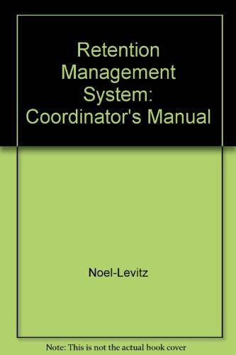 9780395856093: Retention Management System: Coordinator's Manual