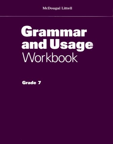 Grammar Usage Workbook: Grade 7 (0395863929) by McDougal, Littell