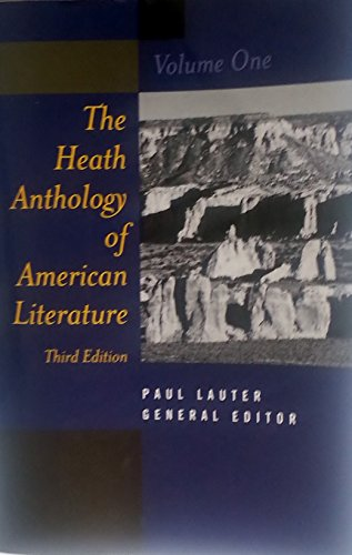 9780395868225: The Heath Anthology of American Literature: v. 1 (English Literature College)