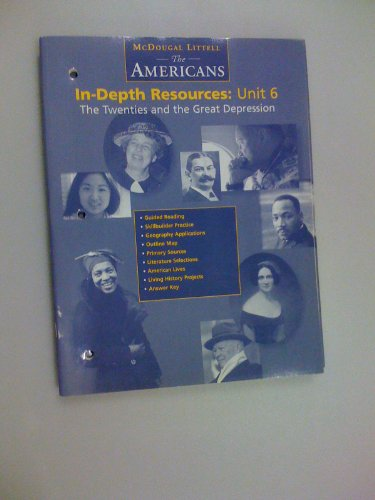 9780395869031: In-depth Resources: Unit 6 the Twenties and the Great Depression (McDougal Littell: The Americans)