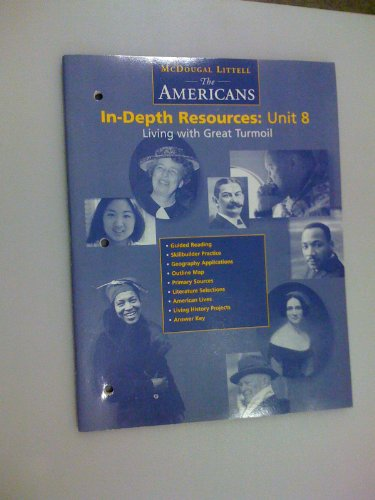 9780395869055: The Americans In-depth Resources: Unit 8 Living with Great Turmoil
