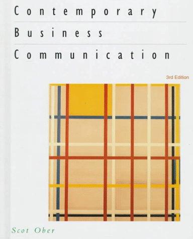 9780395870846: Contemporary Business Communication