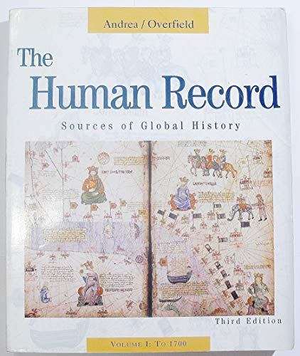 9780395870877: The Human Record: Sources of Global History