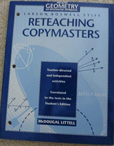 9780395872055: Heath Geometry an Integrated Approach (Reteaching Copymasters)