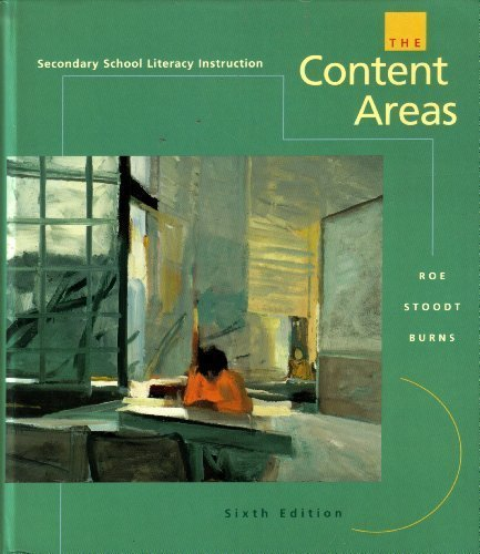 9780395872413: Secondary School Literacy Instruction: The Content Areas