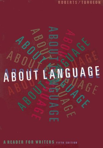 9780395874639: About Language: A Reader for Writers