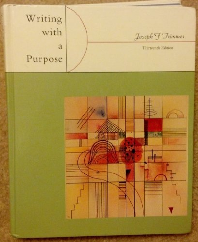 9780395876121: Writing With a Purpose