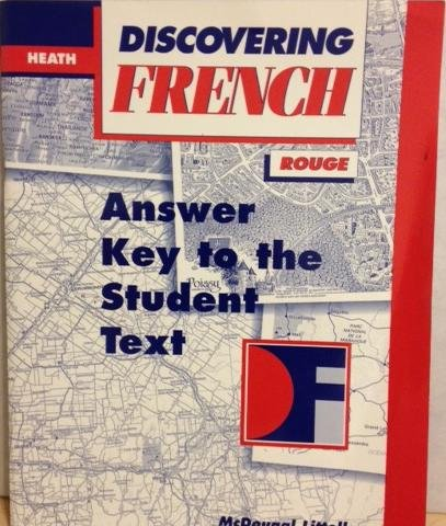 9780395878057: Heath Discovering French (Answer Key to the Student Text, Rouge)