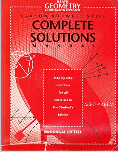 9780395878163: Heath Geometry an Integrated Approach Complete Solutions Manual