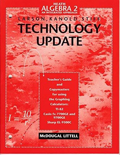 9780395879399: Heath Algebra 2 an Integrated Approach (Technology Update)