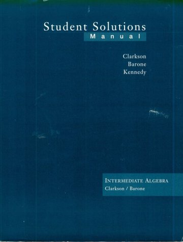 9780395879542: Intermediate Algebra