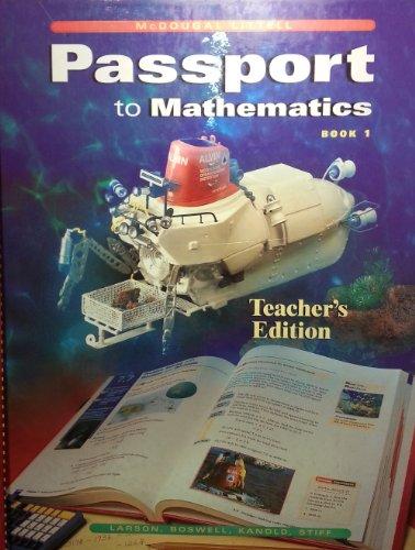 9780395879832: Passport to Mathematics Book 1 (Teacher's Edition)