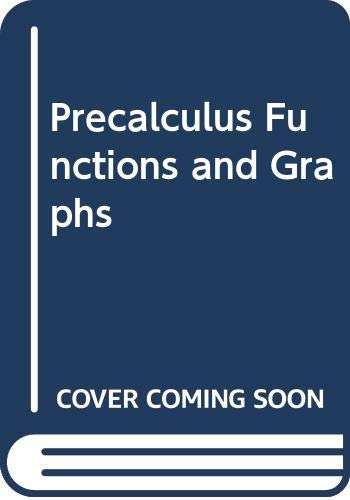 9780395882719: Precalculus Functions and Graphs