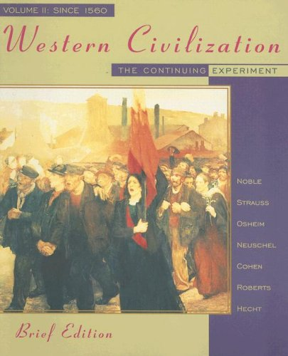 9780395885505: Western Civilization: The Continuing Experiment, Volume II: Since 1560, Brief Edition