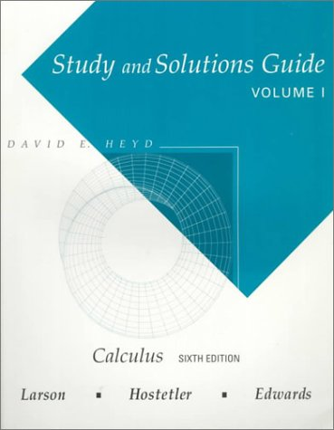 9780395887677: Study and Solutions Guide for Calculus Vol. 1