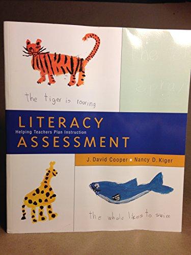 9780395888162: Literacy Assessment: Helping Teachers Plan Instruction