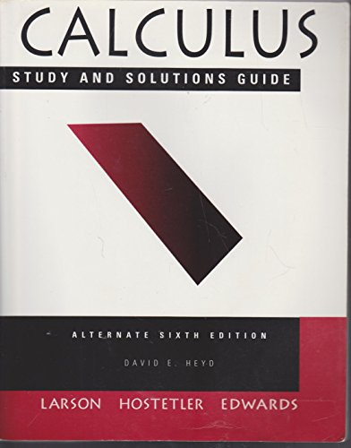 9780395888407: Calculus With Analytic Geometry, Alternate (Study and Solutions Guide)