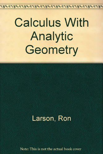 9780395889039: Calculus With Analytic Geometry