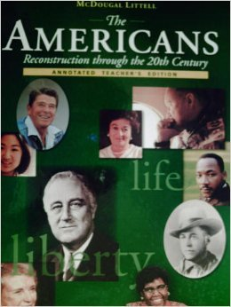 9780395890813: The Americans Reconstruction Through the 20th Century, Annotated Teacher's Edition