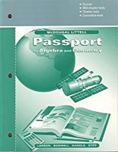 9780395896358: Answer Masters (Passport to Mathematics, Book 1)