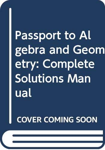 9780395896815: Passport to Algebra and Geometry: Complete Solutions Manual