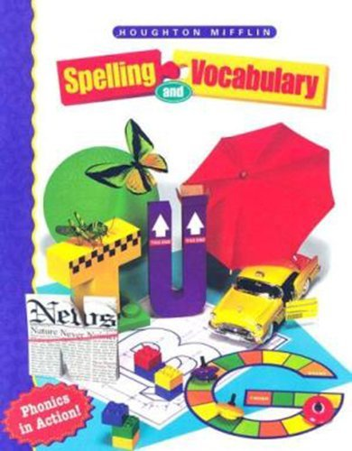 9780395898666: Houghton Mifflin Spelling: Softcover Student Edition Continous Stroke Level 3 1998