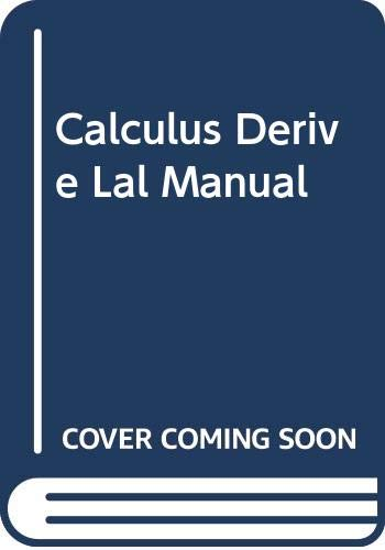 9780395900529: Calculus Derive Lal Manual