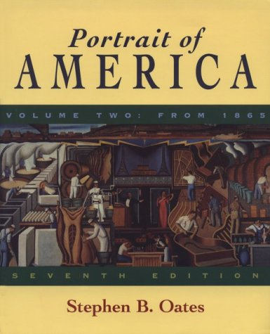 9780395900789: Portrait of America Vol. 2 from 1865 7th ed.