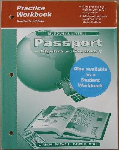 9780395901618: Passport to Algebra and Geometry (Practice Workbook) Teacher's Edition