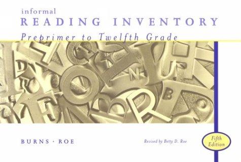 9780395903469: Informal Reading Inventory: Preprimer to Twelfth Grade