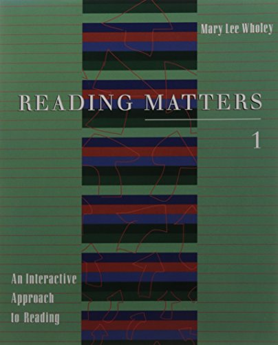 9780395904268: Reading Matters 1: An Interactive Approach to Reading (v. 1)
