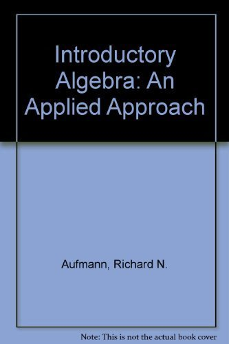 9780395907061: Introductory Algebra: An Applied Approach
