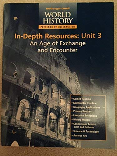 9780395908358: World History: Patterns of Interaction (In-Depth Resources: Unit 3)