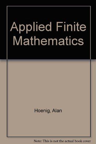 9780395909133: Applied Finite Mathematics