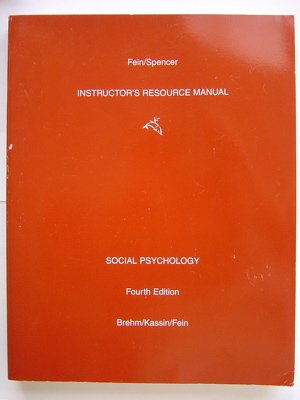 9780395909249: Instructor's Resource Manual Social Psychology