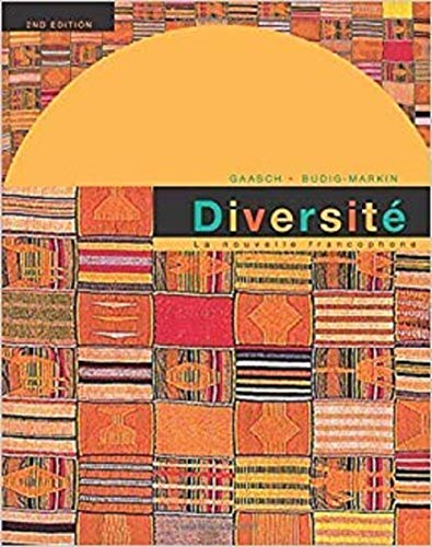9780395909331: Diversite: La Nouvelle Francophone: An Intermediate Reader and Francophone Anthology, 2nd Edition