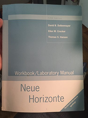 9780395909843: Neue Horizonte: Workbook/Laboratory Manual