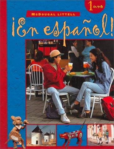 9780395910818: ¡En español!: Student Edition (hardcover) Level 1 2000 (Spanish Edition)