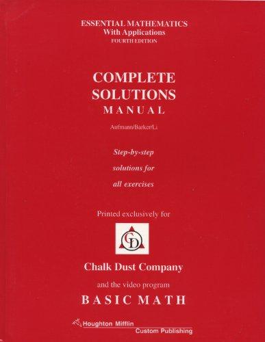 9780395912843: Chalk Dust Basic Mathematics, 4th Edition (Basic Math) (6 Volumes)