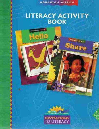 9780395914915: Houghton Mifflin Reading: Literacy Activity Book Hello, Share Invitations to Literacy Level 1.2-1.3