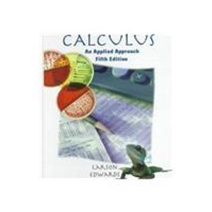 9780395916834: Calculus: An Applied Approach